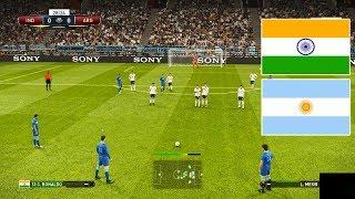 PES 2019 | INDIA vs ARGENTINA | C. Ronaldo Free Kick Goal | Gameplay PC