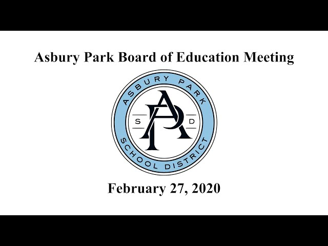Asbury Park Board of Education - February 27, 2020
