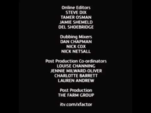 The X Factor (UK) - Credits with The Chase credits theme