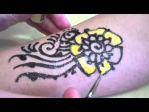 Freehand Glitter & Mica Body Art Tattoos