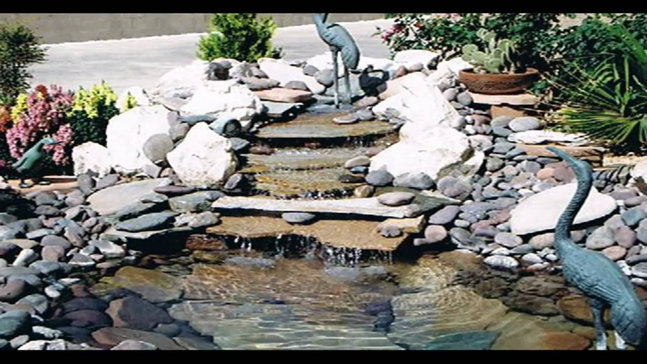 Waterfalls streams pond ideas youtube for Diy waterfall pond ideas
