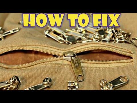 How to fix a broken zipper !?.