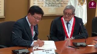 Tema: UNMSM FIRMA CONVENIO MARCO CON LA UNIVERSIDAD NACIONAL DE JEJU