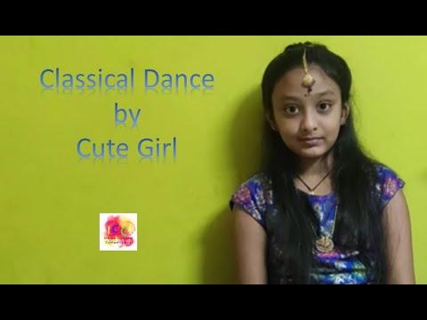 classical dance by cute Girl