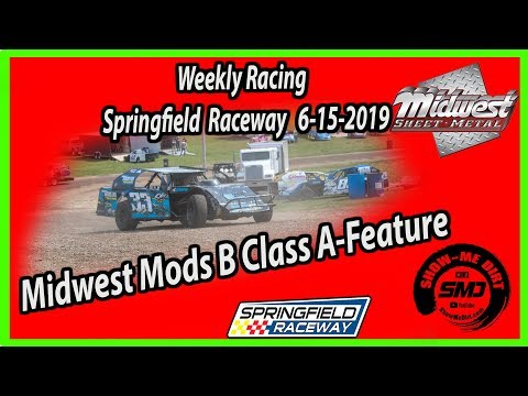 S03-E299 Midwest Mods B-Class A-Feature Springfield Raceway 6-15-2019 #DirtTrackRacing