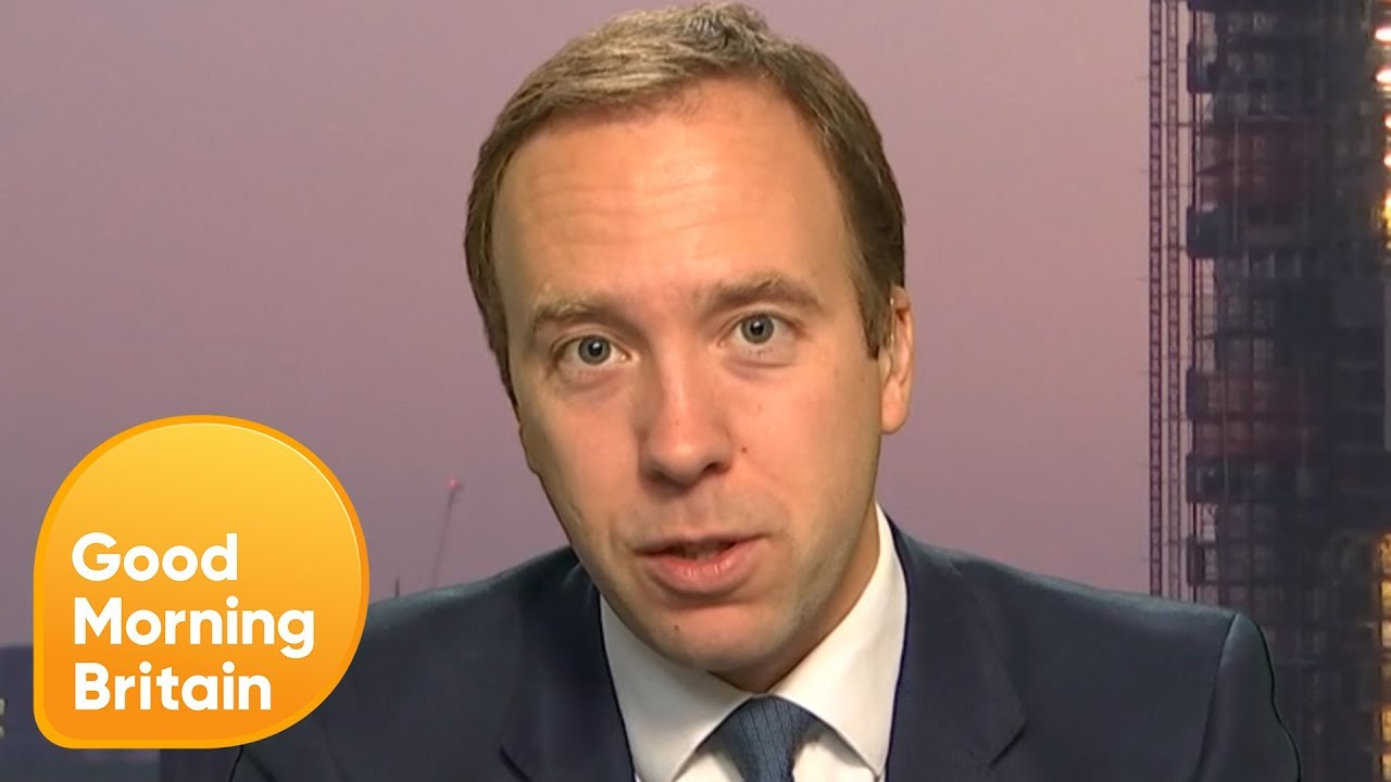 Matt Hancock On Children S Mental Health And What Makes Him Cry Good Morning Britain Youtube