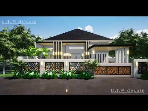 Desain Rumah Minimalis Modern Tropis 1 Lantai Atap Limas ...