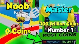 Number 1 Player On Leaderboard! 116 Trillion Coins! - Om Nom Simulator