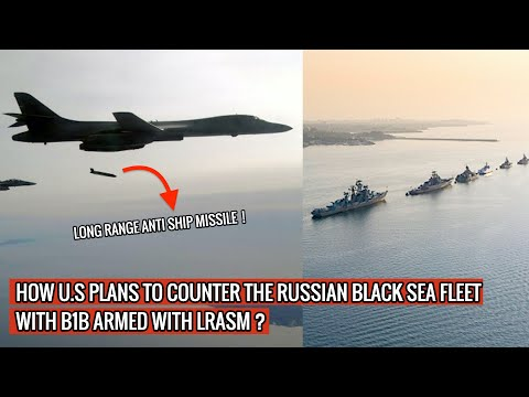B1B ARMED WITH LONG RANGE ANTI SHIP MISSILE IS EXERCISING TO TAKE OUT THE RUSSIAN BLACK SEA FLEET!