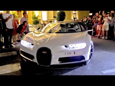 $6Million in BUGATTI CHIRONS came out at midnight in Monaco!
