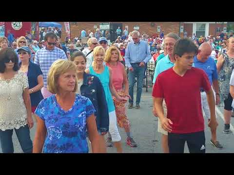 Alexa and Casey- dancing in Hendersonville NC Summer 2018, Music on Main Street and More