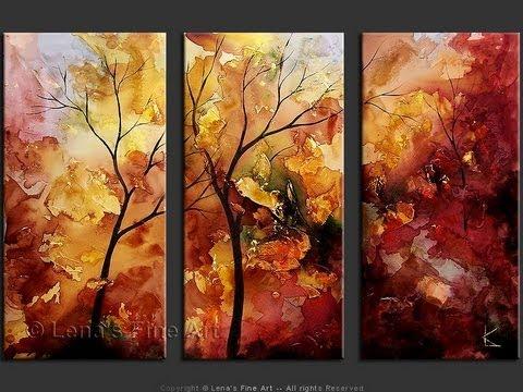 "Paintings of Trees: The ""Autumn Leaves"" Art Series by Lena Karpinsky"