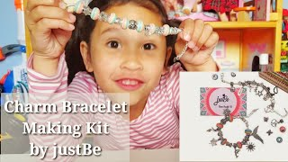 Kids Charm Bracelet Making kit - Jewelry Gift set by JustBe Review