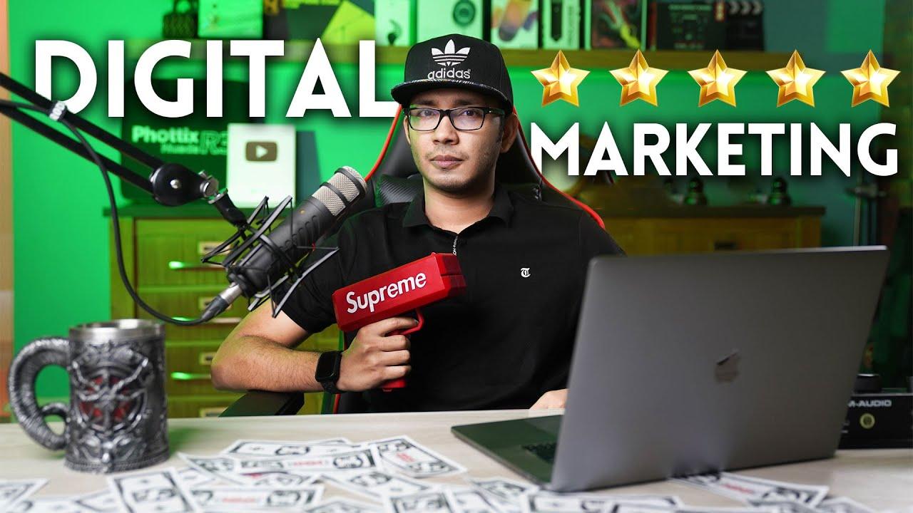 ডিজিটাল মার্কেটিং শিখে কিভাবে মাসে $৫,০০০ - $১০,০০০ ডলার আয় করবেন - All in One Digital Marketing