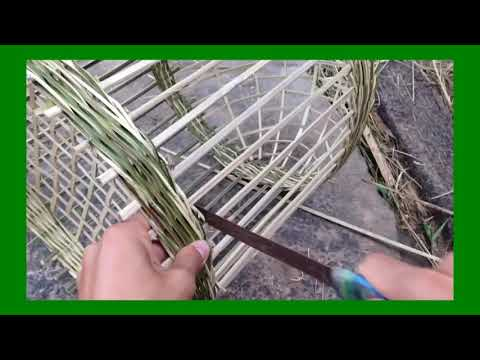 Installing Cage For Bird From Bamboo