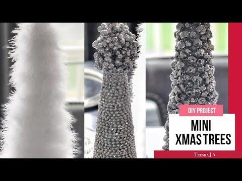DIY Mini Christmas Trees - Holiday Decor