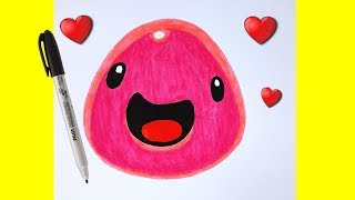 HOW TO DRAW SLIME / DRAWING BEAUTIFUL EASY AND FOFO - Drawing to Draw