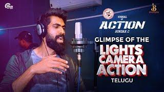 Glimpse Of The Lights Camera Action |Action Telugu |Vishal |Hiphop Tamizha |Rana Daggubati |Sundar.C