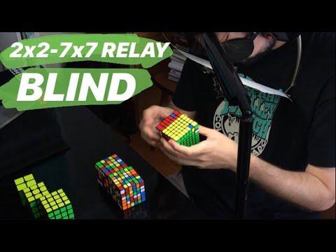 2x2-7x7 Blindfolded Relay World Best: 40:29.61