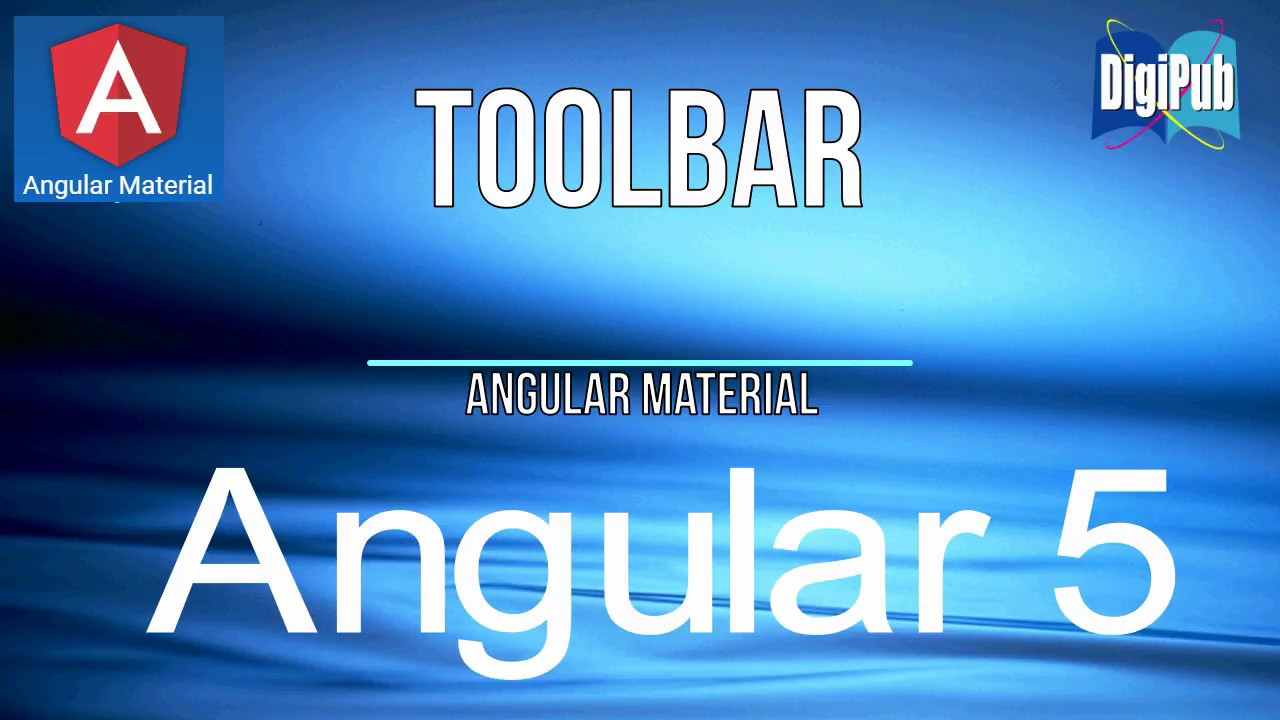 How to use Angular Material Toolbar in Angular5