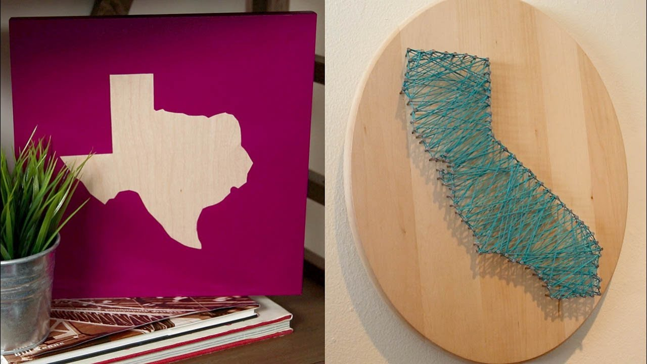 Diy state wall art glam it yourself youtube solutioingenieria Gallery