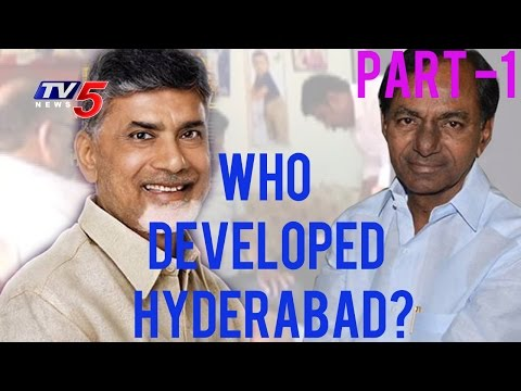 Debate On Hyderabad Developed By KCR or CBN? | News Scan - 1 | TV5 News