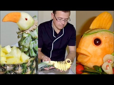 5 ORIGINAL WAYS TO CUT FRUIT By J Pereira Art Carving Fruits and Vegetables