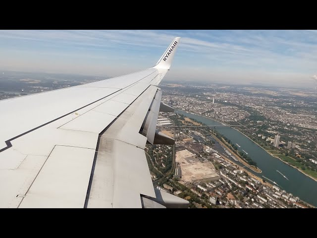 Malta Air (Ryanair) Boeing 737-800 SCENIC Approach & Landing into Cologne Bonn, Germany!