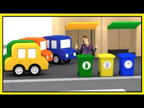 Trash ReCycling CHALLENGE! Cartoon Cars & Garbage Trucks. Cartoons for Kids - Learn Numbers