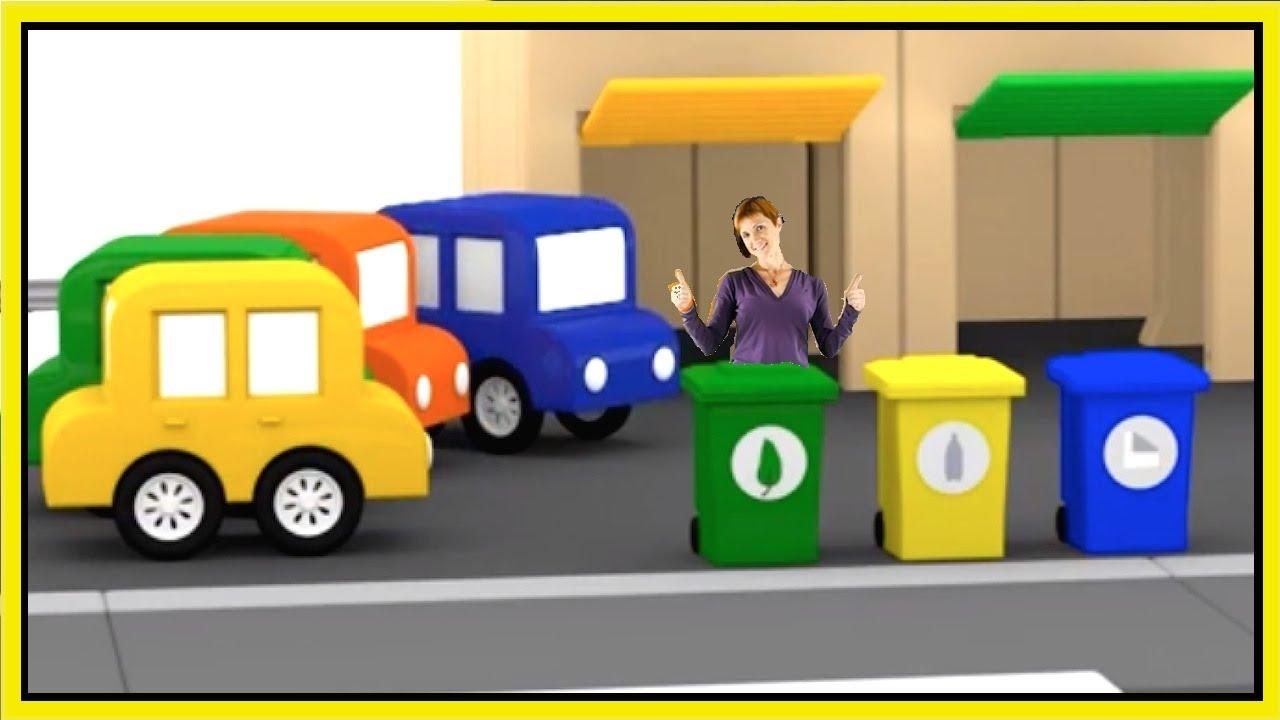 cartoon cars garbage trucks cartoons for kids learn numbers