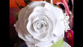 How To Make Foam Flower, Diy, Tutorial Foam Rose #2