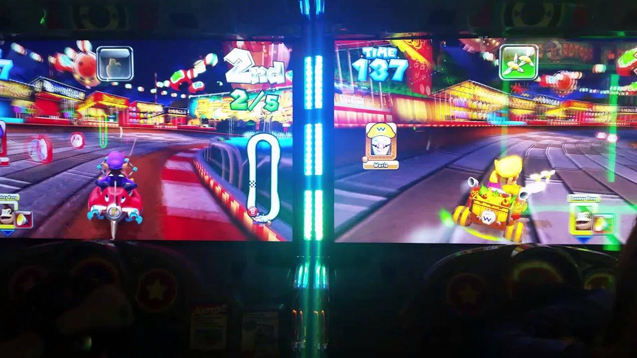 Mario Kart At Dave And Busters Lol Shaky Hands Youtube