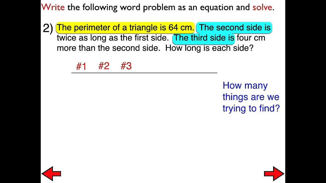 worksheet Multi Step Equations Word Problems 22a word problems involving multi step equations day 2 youtube youtube