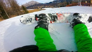 skateboarder tries snowboarding for the first time in ITALY| Cortina d'Ampezzo