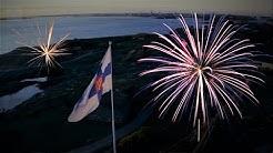 Itsenäisyyspäivän ilotulitus Finlandian tahdissa