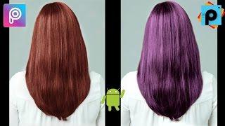 Cambiar el color del cabello en tus fotos en PicsArt app Android tutorial español