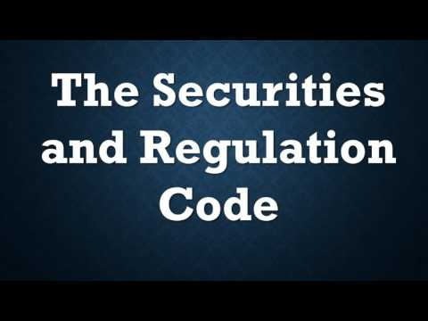 Securities and Regulation Code: Chapter X-XI