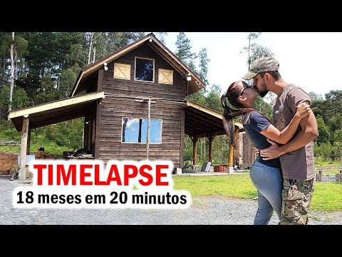 TIMELAPSE Construindo CABANA Em 20 Minutos Família X #diy