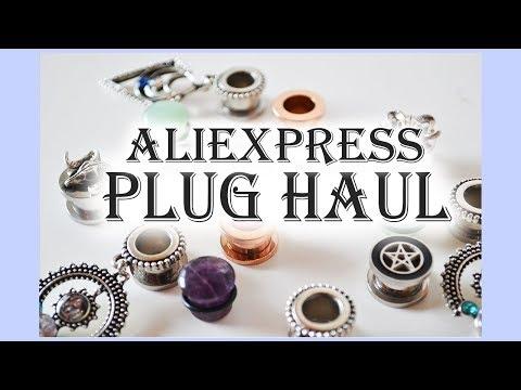 Aliexpress' 00g Plug Haul 2018   Pt.1 Single Flared    Hypnonsense