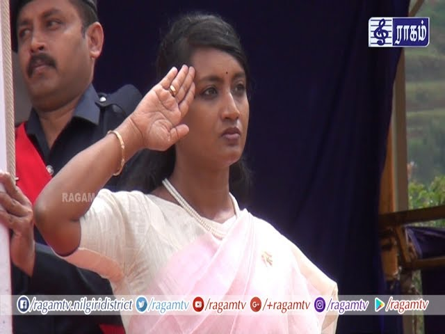 72nd Independence Day 2018, Ooty - Tmt J Innocent Divya IAS District Collector The Nilgiris
