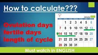 HOW TO CALCULATE OVULATION DAYS | AFTER PERIODS|LENGTH OF CYCLE | FERTILE DAYS | SAFE DAYS | ENGLISH screenshot 5