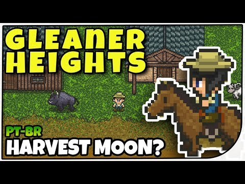 NOVO HARVEST MOON? - Gleiner Heights - Gameplay em Português de Gleiner Heights PT-BR