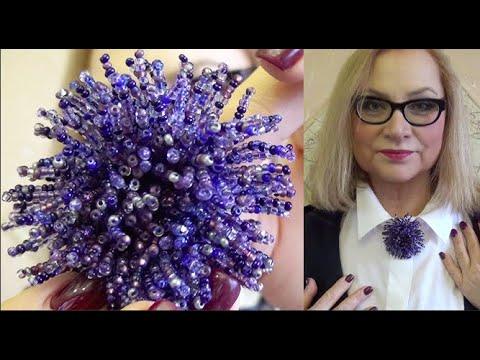 Мастер-класс по изготовлению броши Beads brooch tutorial Тренды 2020 своими руками | Марина Михина