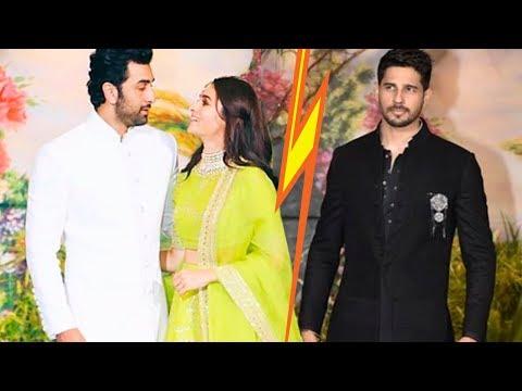 Alia Bhatt With BF Ranbir Kapoor & Ex Sidharth Malhotra Come Face To Face At Sonam Kapoor Reception