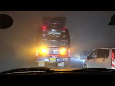 Traveling to Sialkot from Lahore in foggy weather