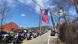 Motorcycle Police From Across New Jersey Led the Procession for Police Officer Tamby Yagan