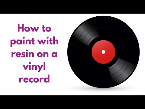 Vinyl Record Resin Painting