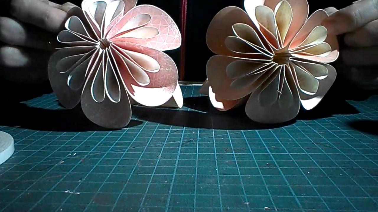 Kusudama flower ball instructions.