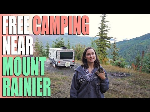 FREE Camping Near Mt Rainier - Mt Baker Snoqualmie National Forest Road 7320 - Campsite Review