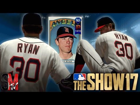 100 MPH HEAT! DIAMOND NOLAN RYAN DEBUT - MLB THE SHOW 17 GAMEPLAY